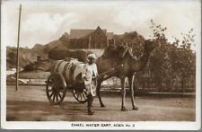 Aden, Yemen - Camel Water Cart - RP postcard by Howard, stamp 1939 pmk