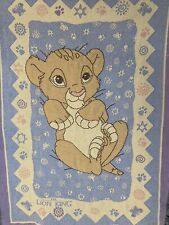 Disney The Lion King Simba Vintage Childs Throw Knitted Tapestry Blanket