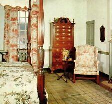 George Wythe House Williamsburg VA Bed Chamber bedroom Vintage Postcard