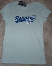 NEW NY New York Rangers CCM T Shirt Women Ladies XL X-Large Light Grey NEW NWT