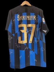 Inter Milan Squad Signed Skriniar 2018/2019 Anniversary Shirt
