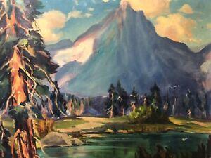 🔥 Antique California Plein Air Impressionist Oil Painting - Hazel Rheinschild