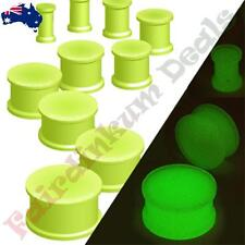 Double Flared Glow In The Dark Silicone Flexible Ear Plugs