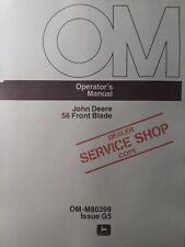 John Deere 56 Front Plow Blade Imp For 400 420 430 Garden Tractor Owners Manual