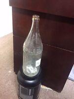 Vintage Glass Soda  Bottle- WARWICK GINGER ALE  - QUART SIZE CLEAR GLASS - 102-8