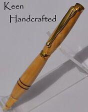 ei - Keen Handcrafted Handmade Olivewood Gold Slimline Pen
