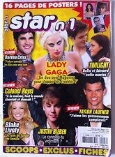 STAR n°1 n°47; Colonel Reyel/ Justin bieber/ Taylor Lautner/ Lady Gaga/ Lively B
