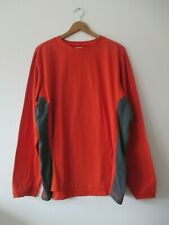 Men's Columbia Titanium Orange Crew Neck Long Sleeve Cotton Blend Sporty Top Xl