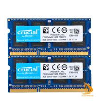Lote crucial 16GB 8GB 2Rx8 PC3-12800S prueba de memoria RAM para computadora portátil DDR3-1600Mhz Sodimm