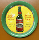 Tivoli Brewing Co. Lager Beer Tip Tray Detroit Pre-Prohibition Original c. 1910