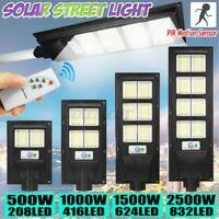 500W-2500W LED Solare Alimentato Muro Strada Luce Sensore di Movimento Remoto