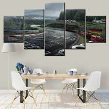 Nurburgring Rally Road Sport Car 5 panel canvas Wall Art Home Decor Print Poster