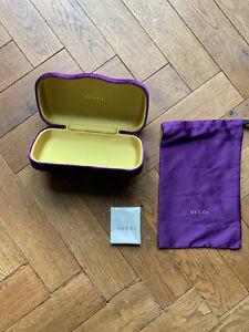 Gucci Purple Velvet Glasses Hard Case