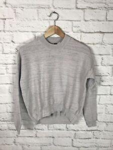 NEW Adidas Womens Grey ZNE Primeknit Sweatshirt Size XS