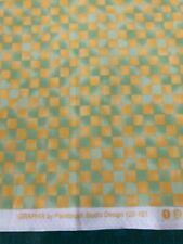 Paintbrush Studio - Graphix Range - Yellow + Green Check - 100% Cotton