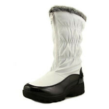 NEW Womens Totes Rogan Rain / Snow Boots White Size 8.5 M Canvas Round Toe