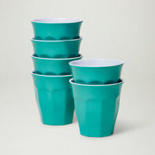 Barel Designs Classic Green Melamine Tumblers 260mL - Set of 6 Picnic Cups