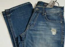New Mens 34 x 30 Axel Jeans Relaxed Straight Distressed Blue 34/30 Stonington