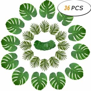 30/36 Artificial Tropical Palm Leaf Fake Green Plant for Home Living Room Decor