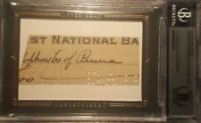 Honus Hans Wagner UD MASTERPIECES Cut Check BAS Authentic AUTO Handwriting
