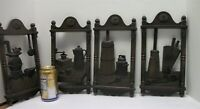 Vtg Set 4 Colonial Wall Hangings Plaques Cabin Early American Decor Homco 1974