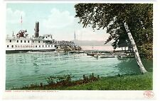 Lake George NY - STEAMER SAGAMORE AT TROUT PAVILION- Detroit Publishing Postcard