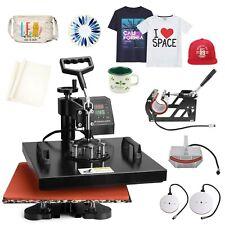15x15 5 In 1 Heat Press Machine Digital Transfer Sublimation T Shirt Mug Hat