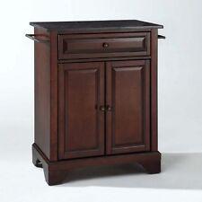 Crosley Furniture Lafayette Black Granite Top Mahogany Island Kitchen Cart