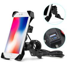Universal Motorcycle ATV Handlebar Holder Mount USB Charger For Cell Phone GPS