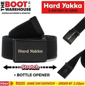 Hard Yakka Y26791 Stretch Webbing Work Belt, Black, Plus Bottle Opener! BELT