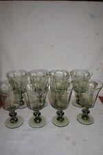 Vintage Lenox Crystal ANTIQUE - PALE GREEN Water Goblets ~ Set of 8
