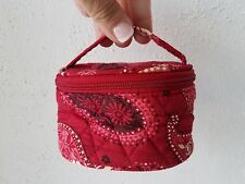 Vera Bradley Mesa Verde Red Small Cosmetic Jewelry Case Pouch Nice Retired