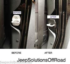 Jeep JKU JK Wrangler Doorless Door Strike Striker Cover 2pc Set Free USA S&H