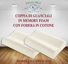 CUSCINO GUACIALE IN MEMORY FOAM H12/13 MODELLO CERVICALE X2 PEZZI Miglior Prezzo
