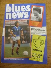 29/11/1983 Birmingham City v Notts County [Football League Cup 2nd Replay] (slig