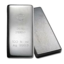 One piece 100 oz 0.999 Fine Silver Bar Republic Metals Corporation-5. Lot 8327
