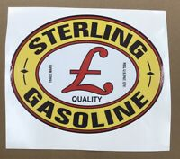 """STERLING GASOLINE DECAL APPROXIMATELY 12"""" WIDE * Gas & Oil"""