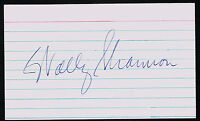 Wally Shannon (d. 1992) signed autograph 3x5 index card Baseball Player B3214