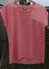 FAT FACE FABULOUS SOLAR CORAL BURN OUT T SHIRT PINK TEA ROSE SIZE 10 BNWT