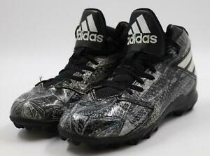 Adidas Youth Freak MD Football Cleats Black/Gray/Silver Athletic Shoes Size 4