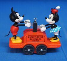 Mickey Minnie Mouse Disney Hallmark Ornament Riding the Rails Handcar Train 2008