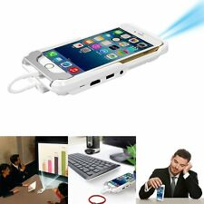 Mini Portable Home Theater Office PPT Projector Phone Wrap USB Dual HDMI