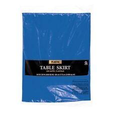Bleu Royal en plastique Table Jupe Frange 14 FT (environ 4.27 m) Fête D'Anniversaire Décoration Vaisselle