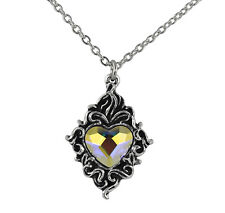 Crystal Heart Pendant - Alchemy Gothic Mystical Marriage Totem