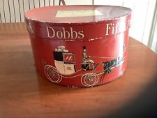 New listing Vintage Dobbs Fifth Avenue Oval Red Hat Box Horse/ Carriage Graphics