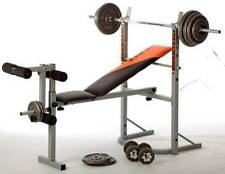 V-fit STB09-1 Folding Weight Bench with 50kg Cast Iron Weight Set r.r.p £240.00