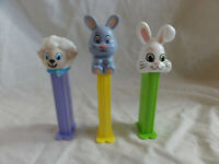 PEZ Lot 3 EASTER ~ Bunny Rabbit Issue G White & H Full Body, Lamb Isseu D