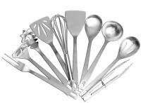 10-Pieces Durable Stainless Steel Kitchen Serving Tools Kit Cooking Utensils Set