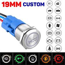 19mm Metal Push Button Switch Customization Latching Momentary Dash Panel Led