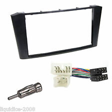 TOYOTA AVENSIS T25 2003 to 2007 BLACK SINGLE or DOUBLE DIN FASCIA FITTING KIT